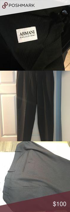 Men dark brown Giorgio Armani slacks These  dark brown Men Giorgio Armani slacks are in excellent condition with a lot of wear left. Armani Collezioni Pants Dress