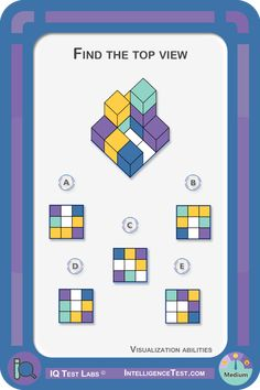 Visualization - Top view/rotation Find the top view of the structure. Coding For Kids, Math For Kids, Activities For Kids, Kindergarten Math, Teaching Math, Visual Perceptual Activities, Logic Problems, Basic Programming, Study Board