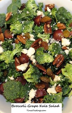 Broccoli Grape Kale Salad - Powered by @ultimaterecipe