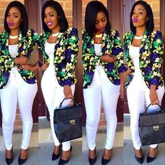Beautiful Business Casual Attire for the Ladies African Attire, African Wear, African Dress, Classy Work Outfits, Chic Outfits, Fashion Outfits, Corporate Attire, Business Casual Attire, African Print Fashion