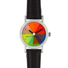 The Met Store - The Metropolitan Museum of Art Color Magic® Leather Band Watch.  A great watch if you never need to know the exact time and if you can wait five seconds to read the dial in dim light.