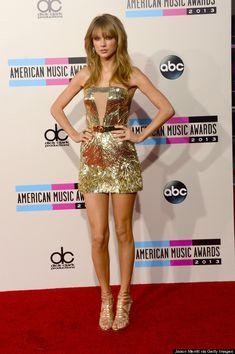Taylor Swift in a Julien Macdonald dress, Jimmy Choo shoes and Lorraine Schwartz jewels.