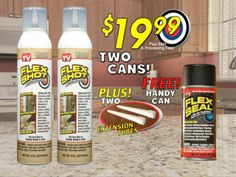 Flex Shot that seals everything •  No Need for a Caulking Gun, Yeah! • Expands & Contracts • fills in Huge Cracks & Holes •  Great for Crafts & Decorative Items • Excellent for: Kitchens & Baths • Sinks & Showers • Tubs & Tiles • Windows & Skylights • Roofs & Gutters • Autos • PVC Pipes & Duct Work •