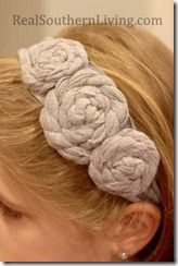 NO SEW, handband or necklace out of an old shirt! Easy way to make fabric flowers too!