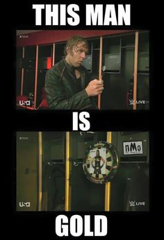 I love Dean's random segments. So random and yet ingenious!!