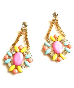Pastel Candy Gem Earrings