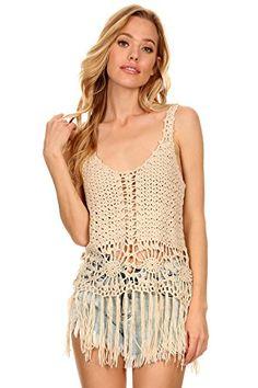 MeshMe Womens Ellen - Beige Crochet Fringed Knit Boho Sty... https://www.amazon.com/dp/B06XSW8YWC/ref=cm_sw_r_pi_dp_x_HUIezbAVWS3NW
