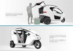 June-August 2013 Primary conceptual stage of electric vehicle for city commuting in Lima, Peru. This project was developed for Gruas Triple A, a Peruvian company specialized in crane services, mechanical assistance and special delivery services, as a fir… Electric Car Concept, Electric Cars, Electric Vehicle, Triumph Motorcycles, Concept Motorcycles, Scooters, Off Grid, Ducati, Mopar