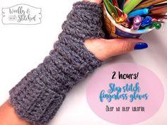 Step by step tutorial where I show you how to crochet these beautiful star stitch fingerless gloves to keep your hands comfty and warmy.