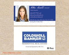 realtor business cards, real estate business cards, coldwell banker business cards, real estate agent cards