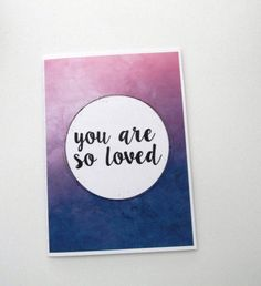 You are so loved card by evacherie on Etsy