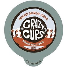 Crazy Cups Decaf Frosted oatmeal Flavored Coffee Single Serve Cups 22 Count ** Visit the image link more details from Amzon.com