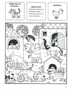 Domácí a hospodářská zvířata Kids Learning Activities, Baby Time, Teaching English, Farm Animals, Kids And Parenting, Coloring Pages, Kindergarten, Homeschool, Comics