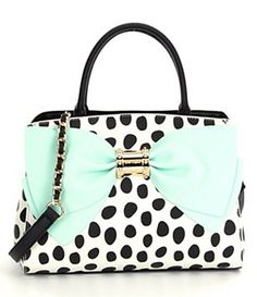 Betsey Johnson Ready, Set, Bow Dotted Satchel