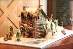 39 best gingerbread log homescabin images on pinterest in 2018 snowflake adventures gingerbread house maxwellsz