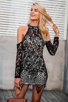 23358318cf5d Hailey Off Shoulder Lace Dress