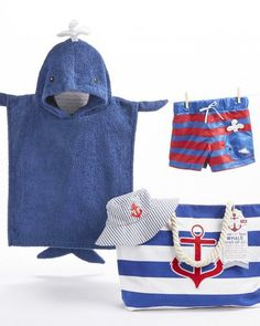 8705516e7f1 This whale 4-piee beach gift set is the perfect way to prep baby boy