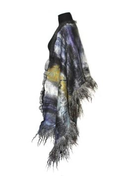 Felt Scarf Nuno Felted Scarf Winter Fashion Long by FeltedPleasure