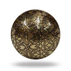 Holly Etch Dresser Drawer Knob Metallic Gold Metal by TrincaFerro