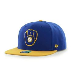 999f5df654e Milwaukee Brewers Sure Shot Two Tone Captain Royal 47 Brand Adjustable Hat