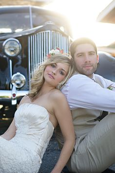 Wedding Pictures nice wedding pose with the motorcycle in the back instead - Alda's Magnolia Hill Wedding Inspiration from Finishing Touch Wedding Photography Poses, Wedding Poses, Wedding Couples, Wedding Portraits, Wedding Dresses, Car Wedding, Romantic Photography, Teen Couples, Friend Photography