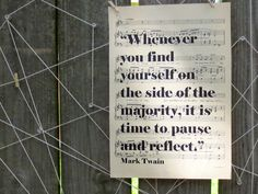 Vintage Sheet Music Print, Classic Quote on Vintage Sheet Music, Mark Twain Quote, Old Music, Musical Quote Election Quotes, Mark Twain Quotes, Classic Quotes, Old Music, Vintage Sheet Music, Powerful Words, Music Quotes, Quotes To Live By, Favorite Quotes