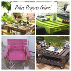 Combo of pallet ideas I'm dying to make!