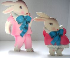 Vintage Wooden Cut OutsBunnies Wall by QVintage on Etsy