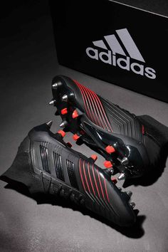 New adidas Predator football boots in black and red, from the Archetic collection. Adidas Soccer Boots, Nike Football Boots, Adidas Cleats, Nike Soccer, Predator Football Boots, Best Soccer Shoes, Best Soccer Cleats, Football Cleats, Football Players