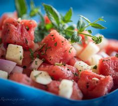 Watermelon Jicama Salad @Susan Powers.com