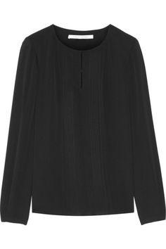 Black silk Concealed hook fastenings along front 100% silk Dry clean