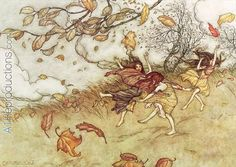 Autumn Fairies from Peter Pan in Kensington Gardens by J.M. Barrie, 1906