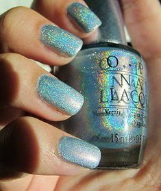 "OPI Nail Polish Designer Series DS ""SAPPHIRE"" DISCONTINUED HOLOGRAPHIC RARE"