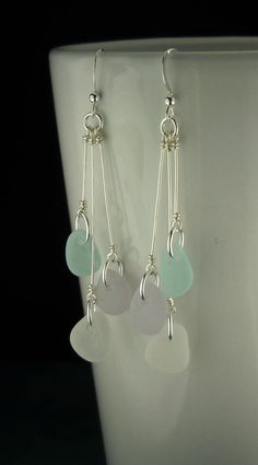 How To Make A Perfect Simple LoopFree Diy Jewelry Projects Beach Jewelry, Sea Glass Jewelry, Gold Jewelry, Glass Earrings, Beaded Earrings, Hoop Earrings, Diy Earrings Dangle, Wire Jewelry Earrings, Jewelry Findings