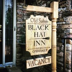 Old Salem Black Hat Inn Wooden sign   Halloween Decor   Witch Decorations   Me and Annabel Lee (@meandannabellee1) • Instagram photos and videos