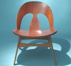 Shell Easy Chair, Teak and beech, c1950´s. Design by Börge Mogensen,  produced by Erhard Rasmussen