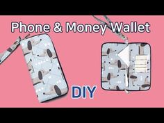 DIY Phone & Money Wallet/zipper wallet tutorial/Long zipper wallet/폰지갑 만. Diy Wallet, Wallet Tutorial, Phone Wallet, Summer Handbags, Embroidery Bags, Best Bags, Purses And Bags, Coin Purses, Zip Around Wallet