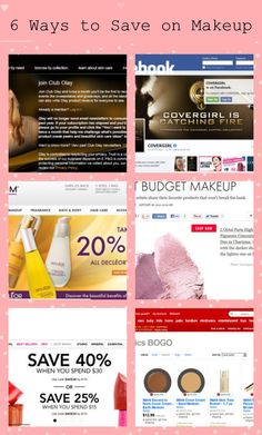 Ways to save on makeup and skin care products.