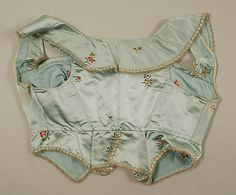 A sleeveless spencer. Back. Met museum Late 18th century