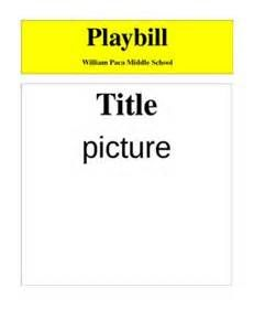 Make Your Own Broadway Playbill Template
