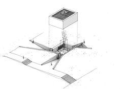 drawingarchitecture:  'Axonometric view for the VIII Hispalyt contest' Studio Icono. 2013.