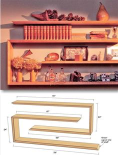 Wall Shelves Plans - Woodworking Plans and Projects | WoodArchivist.com