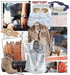 """DENIMdenim"" by lsamsam . Love everything about this!"