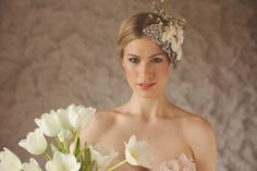 white tulips and bride from Ashlee Murr Photography
