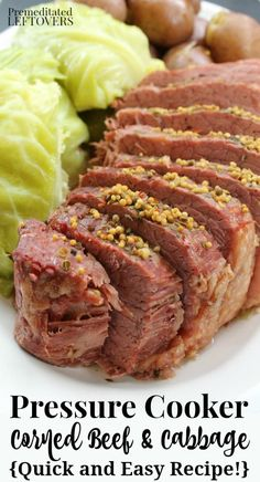 Here are directions for how to cook Corned Beef in an Instant Pot or a Pressure Cooker. A quick and easy recipe for corned beef and cabbage with potatoes. Pressure Cooker Brisket, Pressure Cooker Recipes Beef, Instant Pot Pressure Cooker, Slow Cooker, Pressure Cooker Corn Beef And Cabbage Recipe, Microwave Pressure Cooker, Instant Pot Corned Beef Recipe, Beef Gravy Recipe, Instant Pot Dinner Recipes