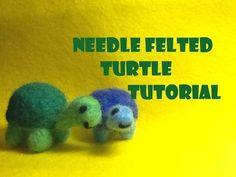 How to Make a Needle Felted Turtle Plush- Needle Felting Tutorial - YouTube                                                                                                                                                      More