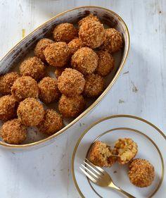 Mini Sausage and Parmesan Rice Balls | RealSimple.com