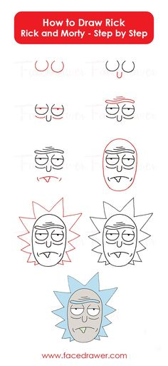 Rick is your favorite cartoon character? Learn Rick from Ri . Lerne Rick von Rick und Morty … – Rick is your favorite cartoon character? Learn Rick from Rick and Morty … – # … - Easy Drawing Tutorial, Cartoon Tutorial, Rick And Morty Drawing, Rick And Morty Tattoo, Drawing Lessons, Drawing Ideas, Drawing Poses, Drawing For Kids, Drawing Tips