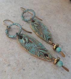 Raven's Wing ... Bronze Bronze Metal Clay and by juliethelen, $32.00