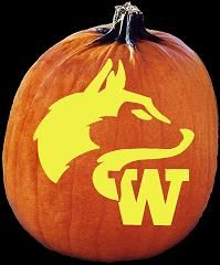 SpookMaster Washington Huskies College Football Team Pumpkin Carving Pattern